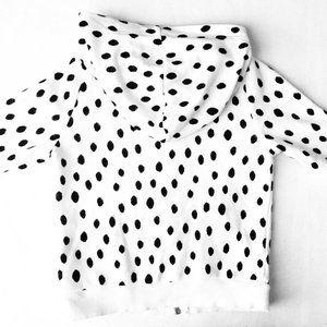 H&M Shirts & Tops - H&M Black & White Polka-Dot Hoodie